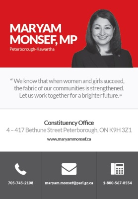 Maryam Monsef MP 2016 - Journey Magazine Ad