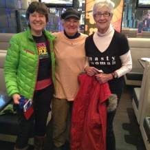 Janice Keil (left) and Rosemary Ganley (right) both of Peterborough with friend Joy Kennedy