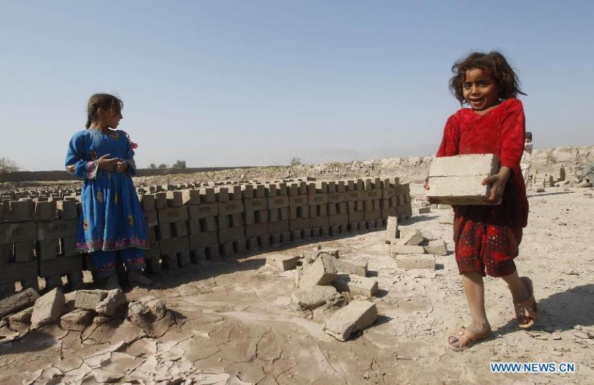child brick workers