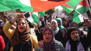 palestinian women demonstrating march 2018